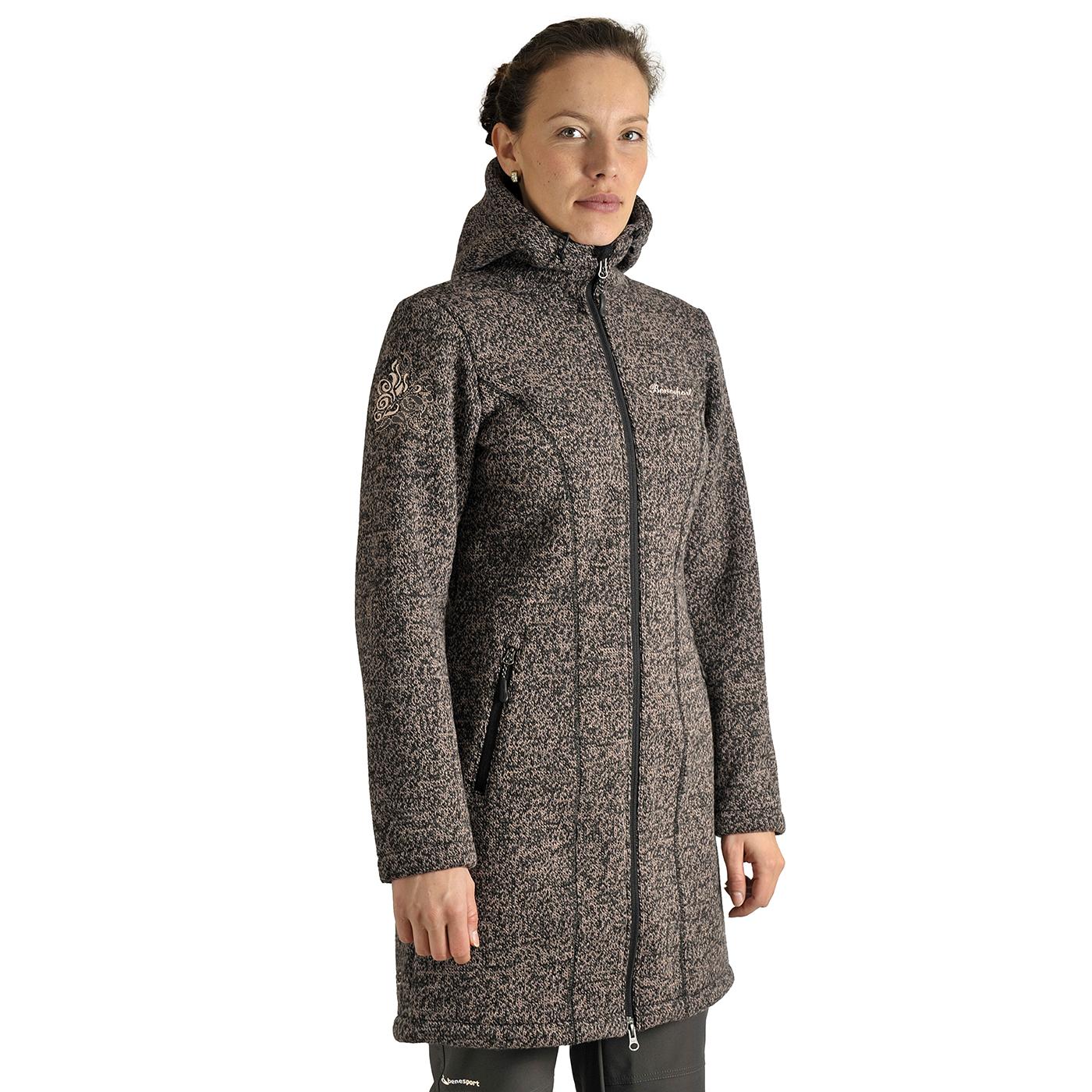 Benesport dámska bunda Pipitka - ružovo-čierna, veľkosť XS