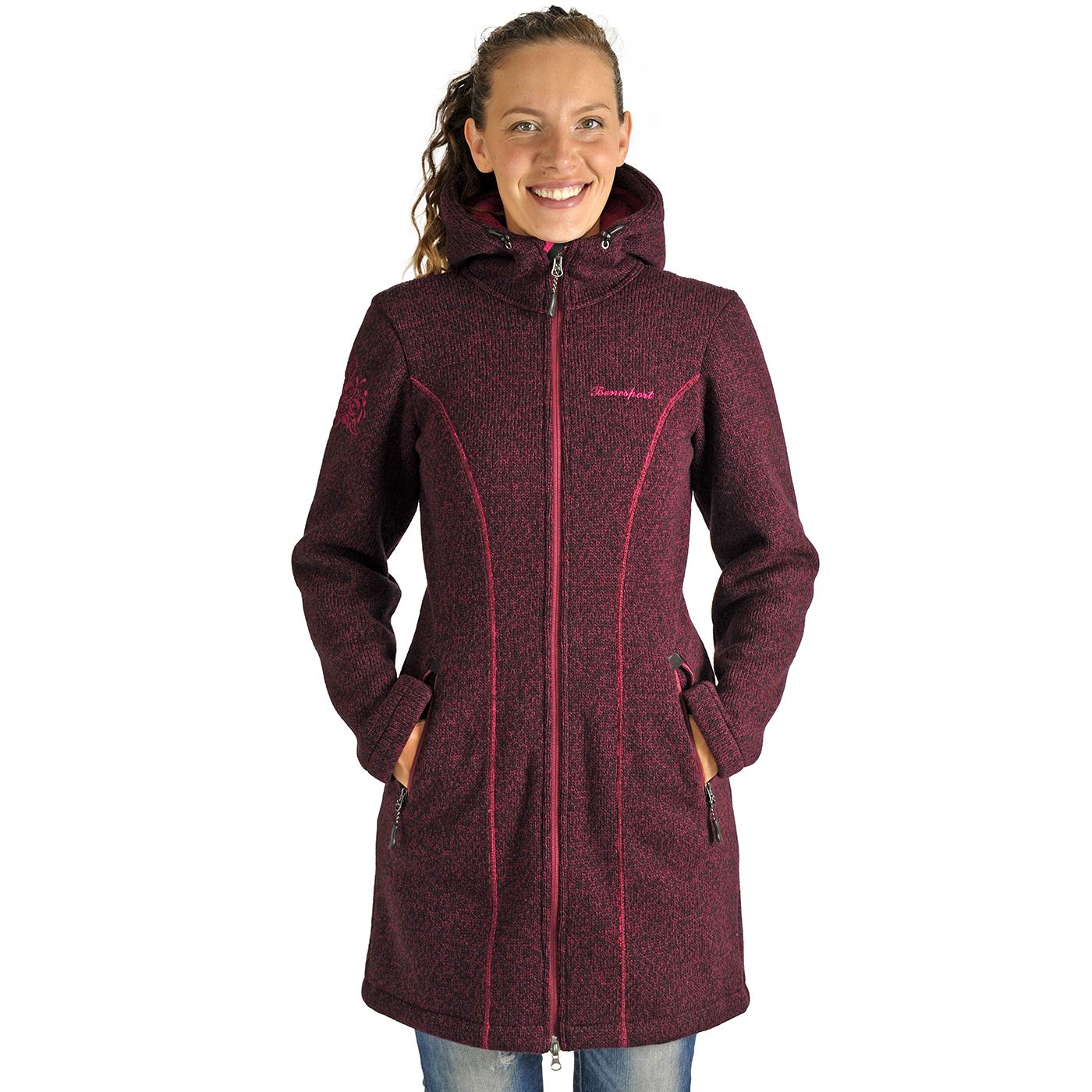 Benesport dámska bunda Pipitka - bordová, veľkosť XS