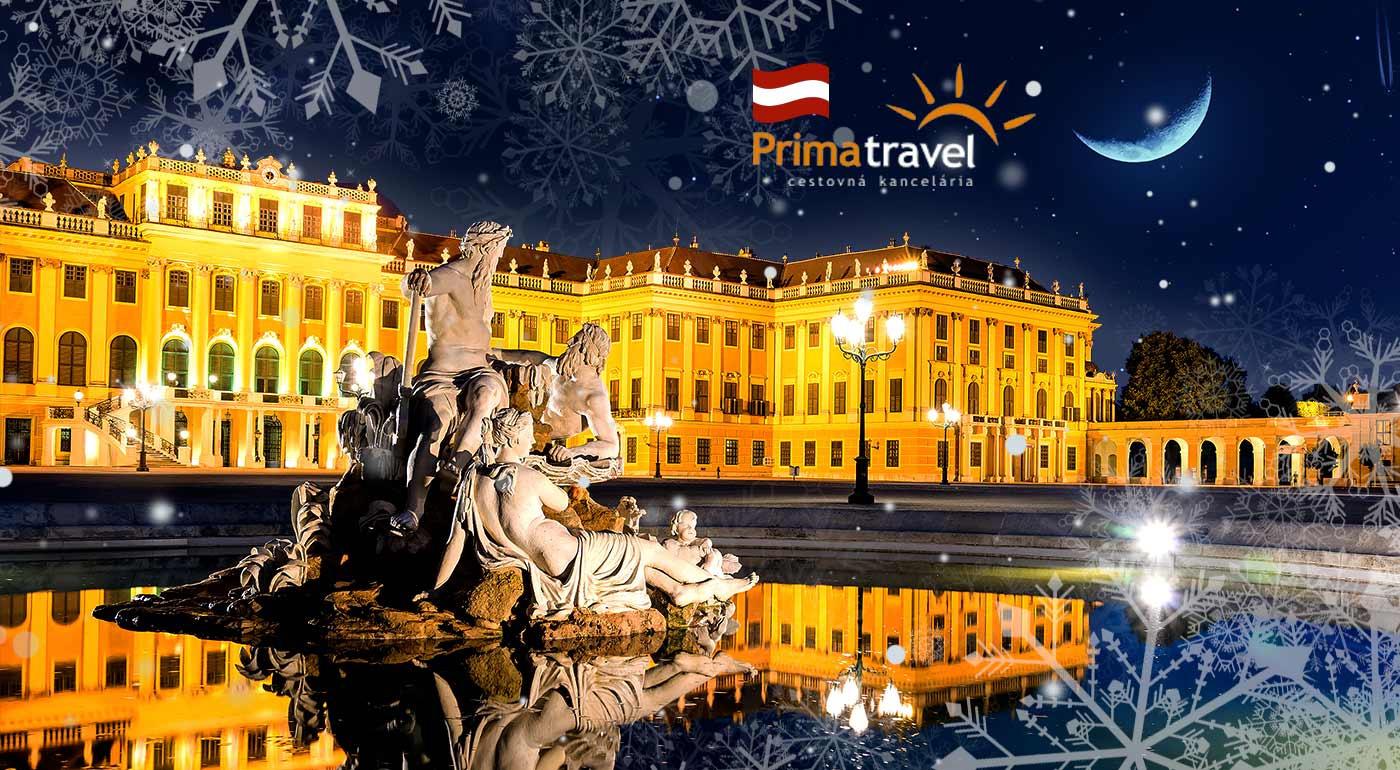 Palác Schönbrunn vo Viedni a návšteva najznámejších vianočných trhov