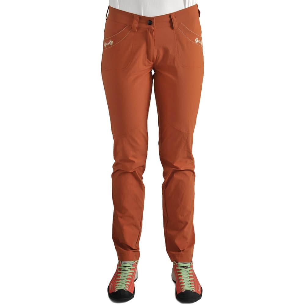 Dámske nohavice Jakubina - tehlové, veľkosť XL