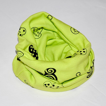 Detský bavlnený nákrčník Mickey zelený