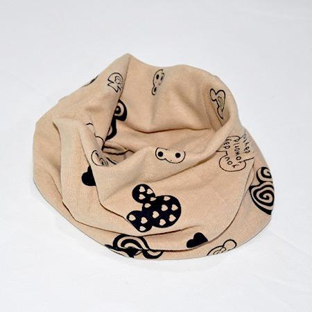 Detský bavlnený nákrčník Mickey hnedý