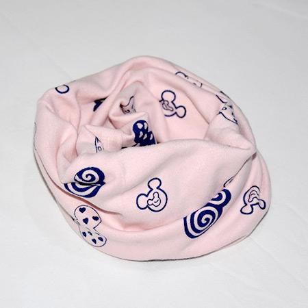 Detský bavlnený nákrčník Mickey ružový