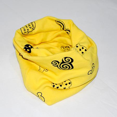 Detský bavlnený nákrčník Mickey žltý