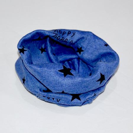 Detský bavlnený nákrčník Hviezdičky tmavomodrý