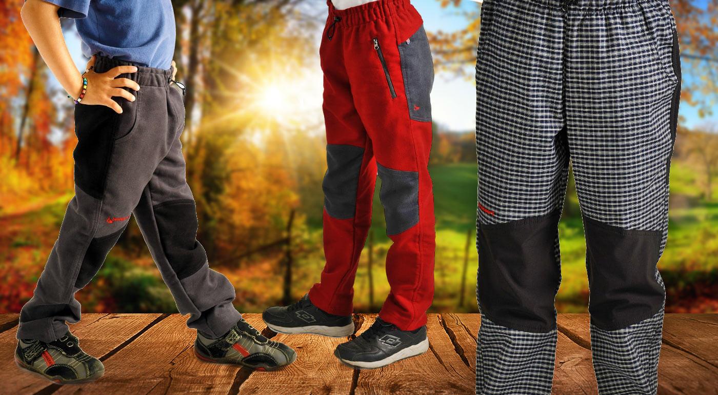 Detské športové nohavice a mikiny Benesport ideálne na turistické výpravy s rodičmi