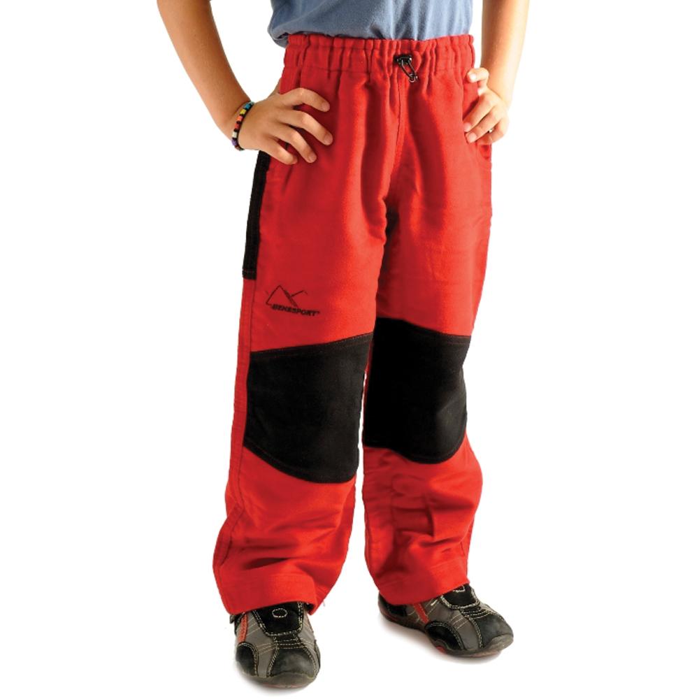 Benesport detské nohavice Spišík - červené, veľkosť 140