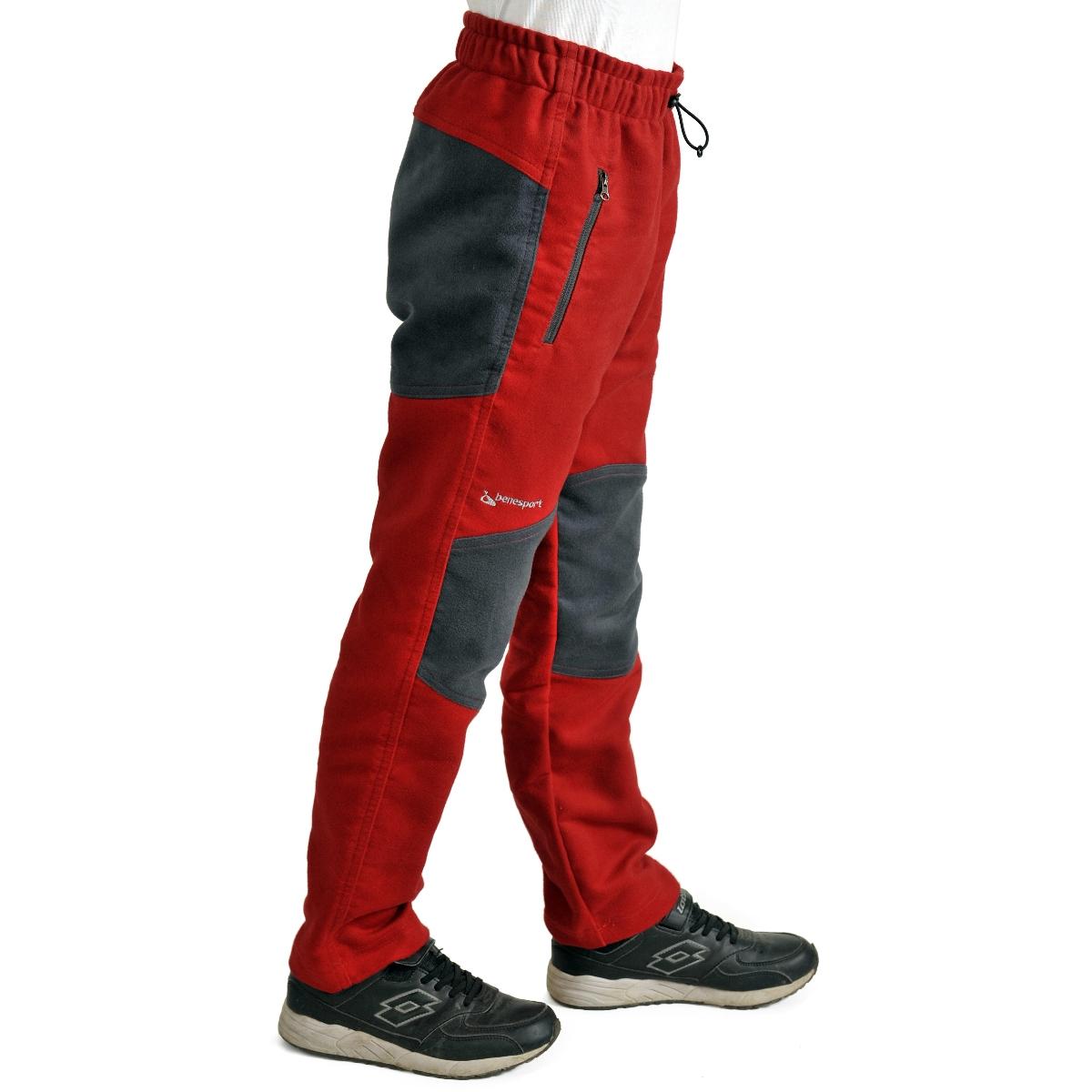 Benesport detské nohavice Spišík - červené, veľkosť 92