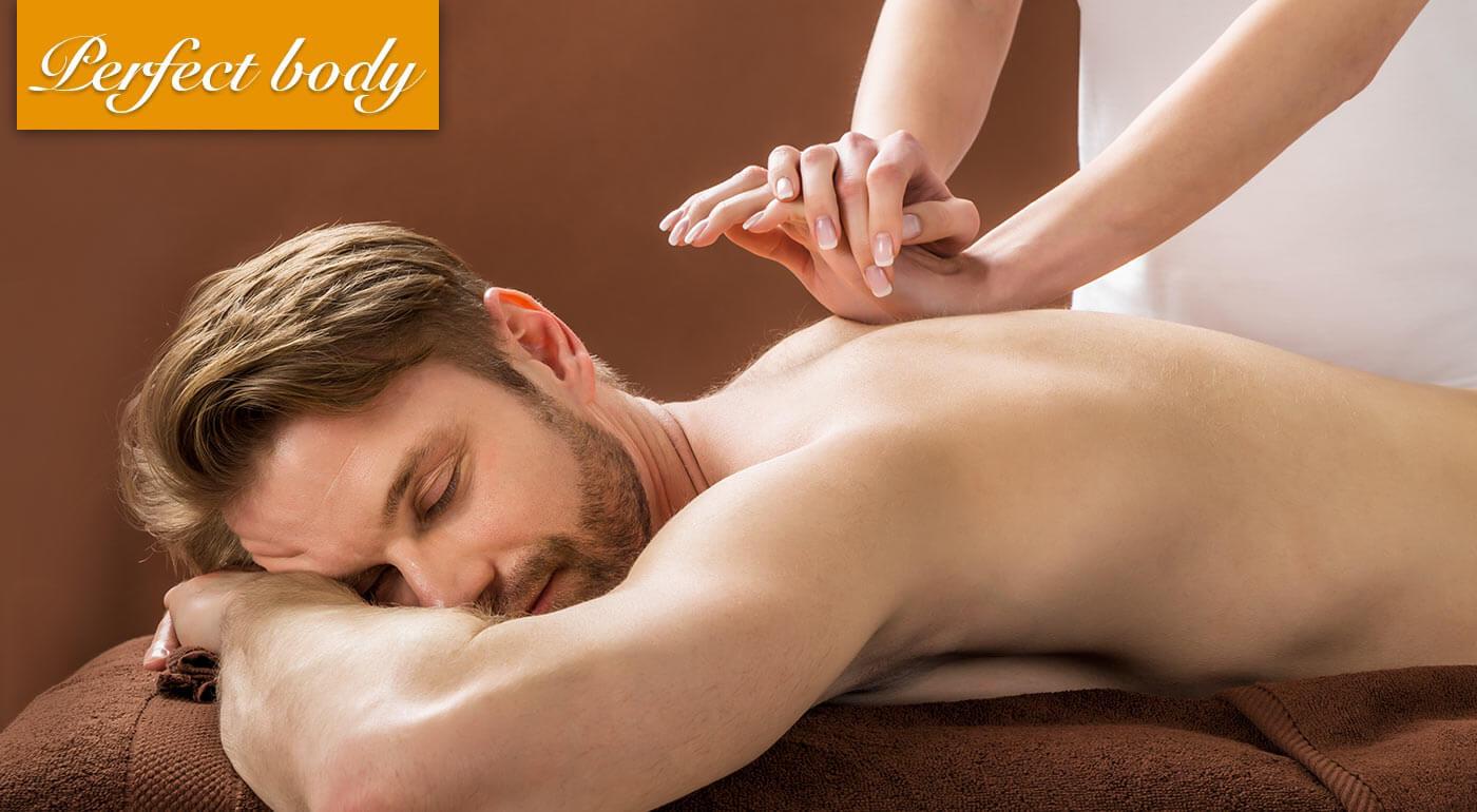 Breussova masáž v salóne Perfect Body na uvoľnenie tlaku chrbtice a napätého svalstva