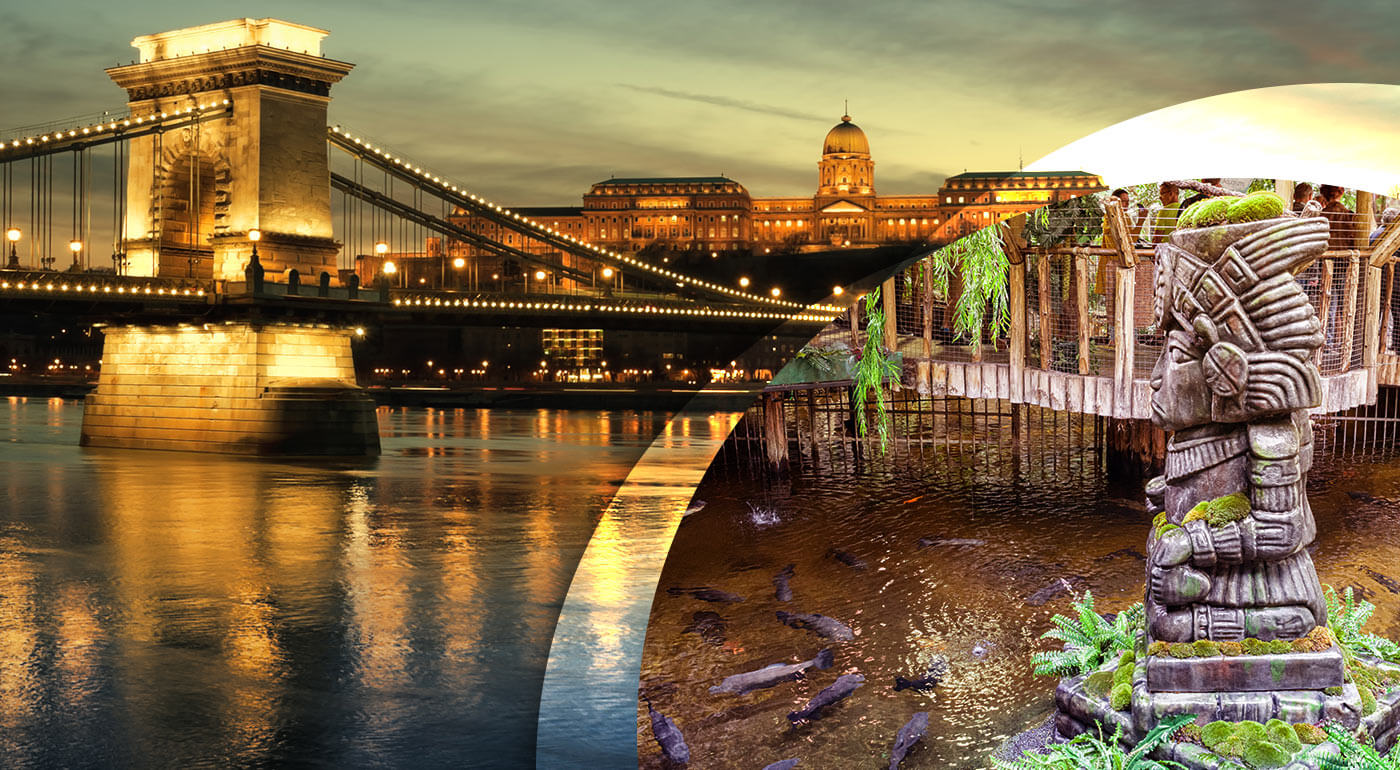 Fotka zľavy: Navštívte vysvietenú Budapešť v predvianočnom období a užite si decembrovú sobotu v slávnom Tropikáriu. Na 1-dňovom zájazde spoznáte mesto na prehliadke s profesionálnym sprievodcom.