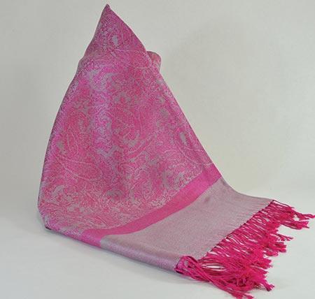 Pašmína (kašmírový šál) - farba ružovo-šedá