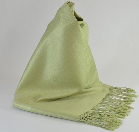 Pašmína (kašmírový šál) - farba svetlozelená