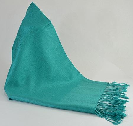 Pašmína (kašmírový šál) - farba smaragdová