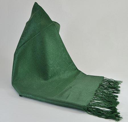 Pašmína (kašmírový šál) - farba tmavozelená