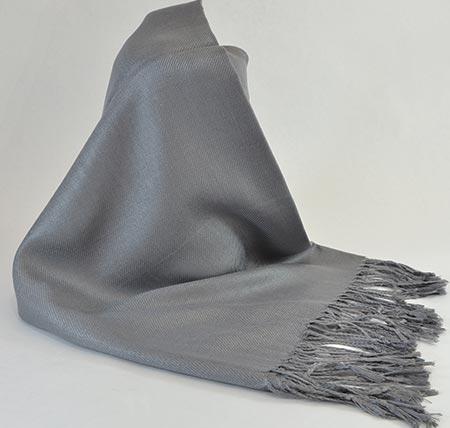 Pašmína (kašmírový šál) - farba sivá