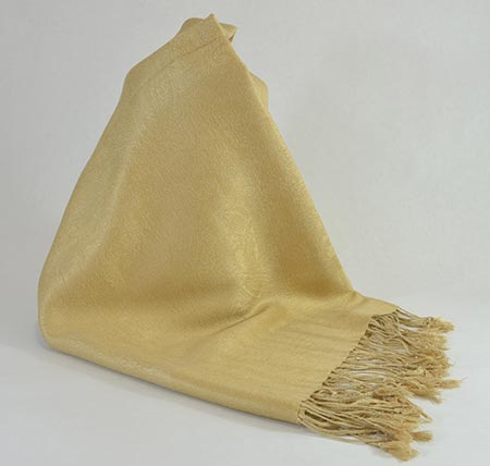 Pašmína (kašmírový šál) - farba zlatá