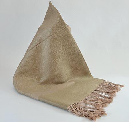 Pašmína (kašmírový šál) - farba mocca