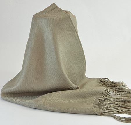 Pašmína (kašmírový šál) - farba kaki