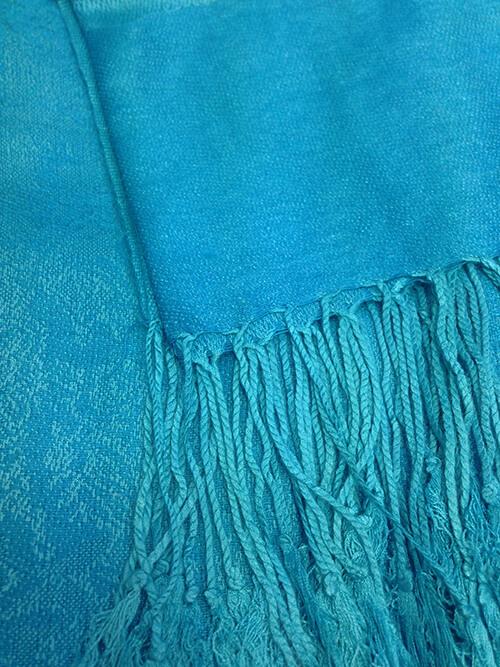 bf58cc1c300 Pašmína (kašmírový šál) - farba tyrkysová