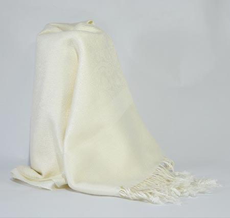 Pašmína (kašmírový šál) - farba krémová