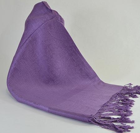 Pašmína (kašmírový šál) - farba tmavofialová