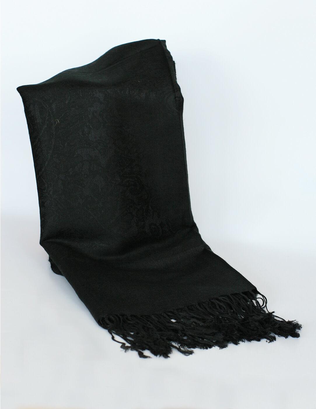 Pašmína (kašmírový šál) - farba čierna