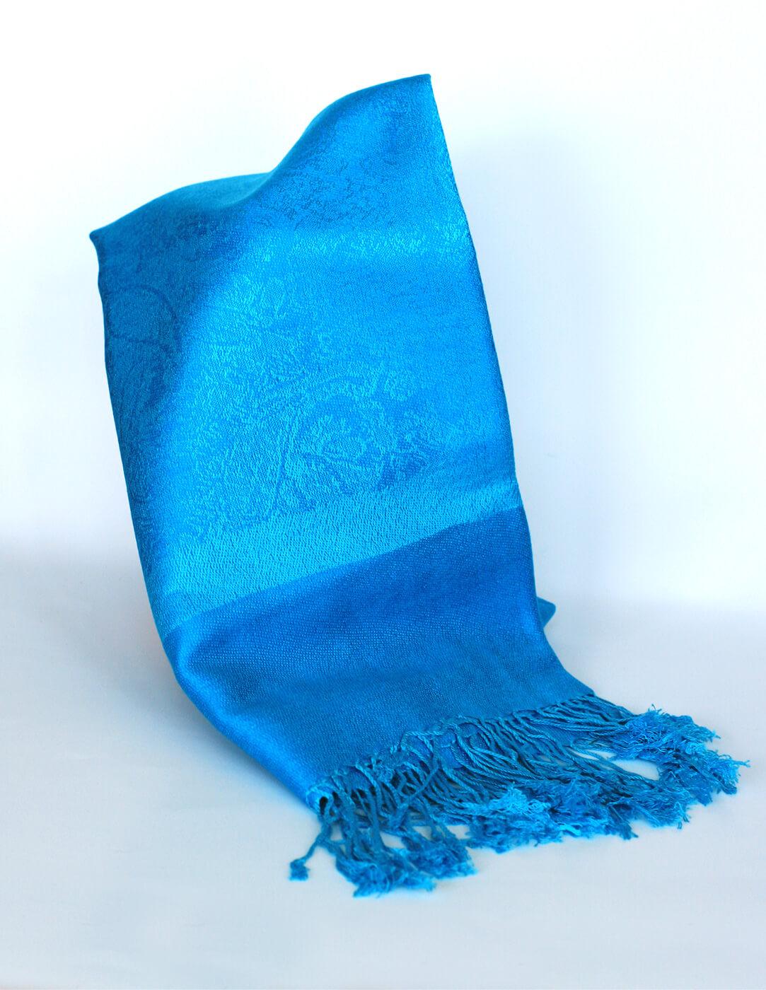 Pašmína (kašmírový šál) - farba tyrkysová