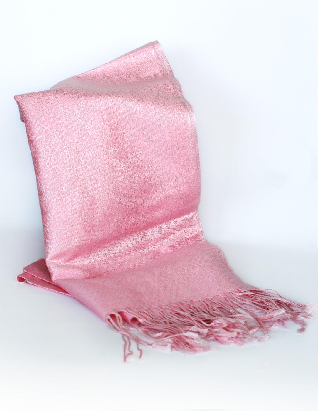 Pašmína (kašmírový šál) - farba ružová
