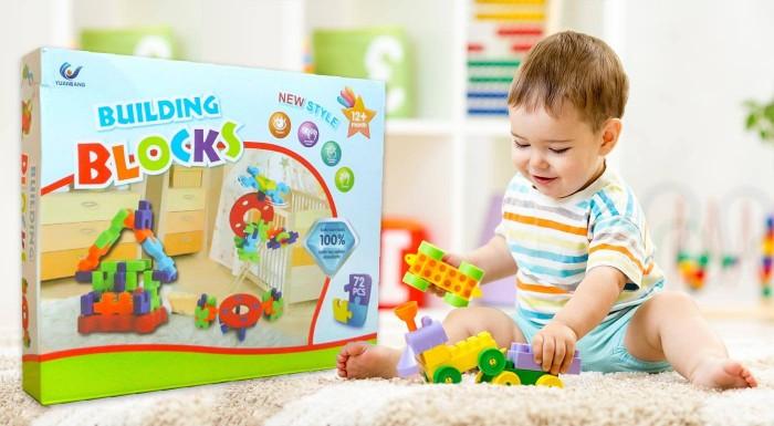 Fotka zľavy: Skladačka patrí do základnej výbavy každého dieťatka. Kúpte tomu svojmu kvalitnú stavebnicu Building Blocks so 72 dielikmi v pestrých farbách, z ktorých si môže poskladať čo len chce.