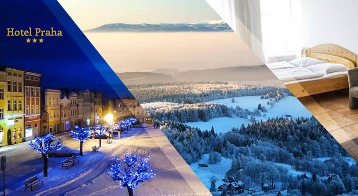 Fotka zľavy: Hotel Praha *** v Broumove vám ponúka pohodlie, dobré jedlo a oddych v nádhernej prírode Adršpašsko-Teplických skál. Užite si so svojimi blízkymi pobyt počas 2, 3, 4 alebo 5 nocí.