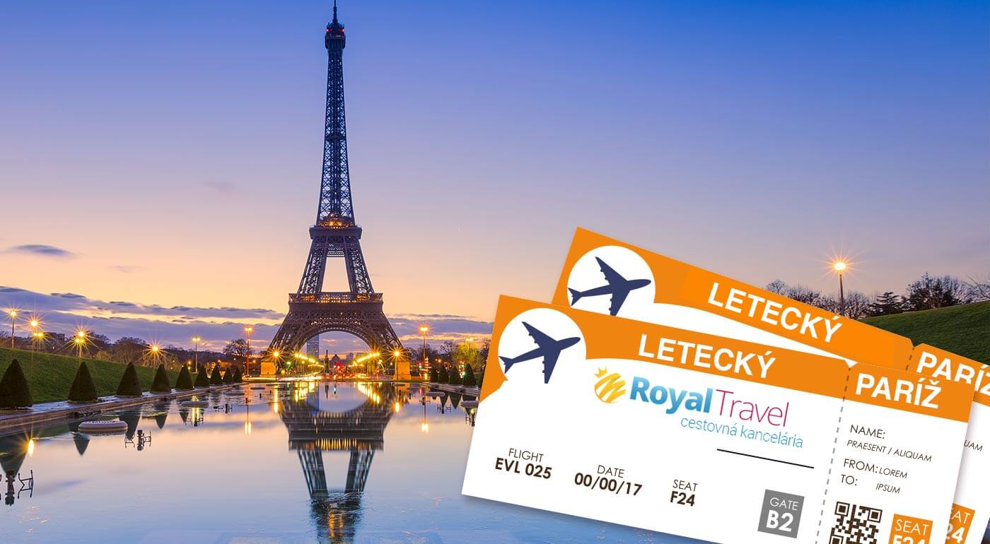 Nechajte sa uniesť krásami Paríža, očarujúceho mesta na Seine. Vyberte sa spolu so sprievodcom na letecký poznávací zájazd za šarmom metropoly Francúzska.