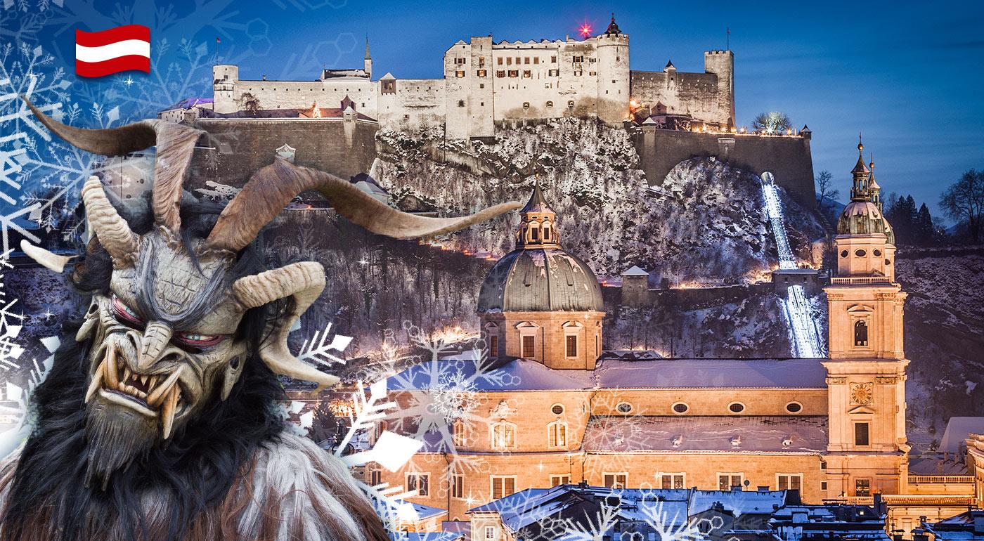 Schladming a Salzburg: 1-dňový zájazd so sprievodom čertov, adventnými trhmi a prehliadkou miest