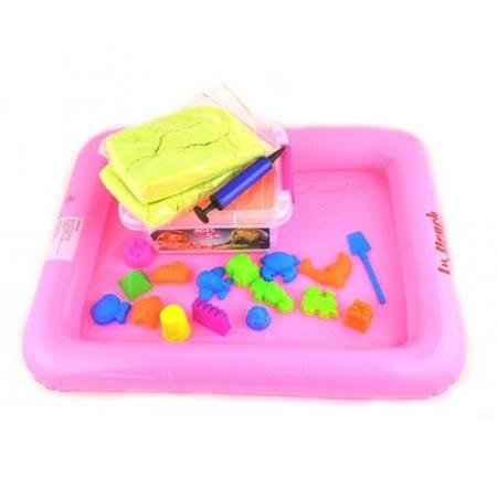 Play Sand kinetický piesok pre deti 2kg so sadou formičiek a podložkou