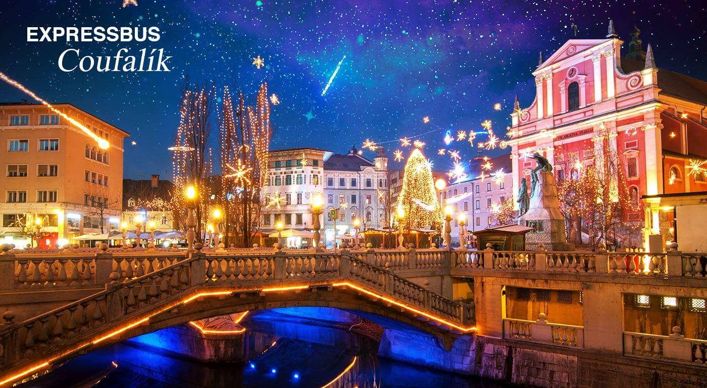 Adventné Slovinsko: 2 dni v metropolole Ľubľana s kúpaním v moderných kúpeľoch Zreče