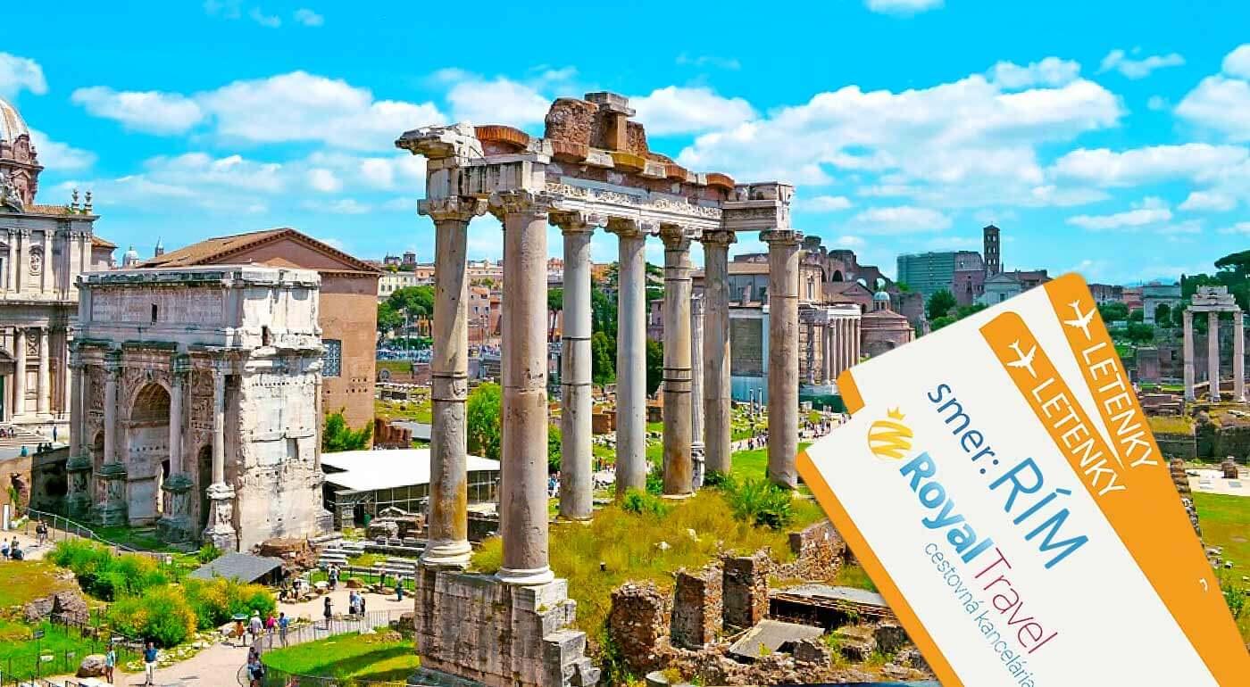 Prezrite si na vlastné oči miesta, kde sa zrodila fascinujúca história rímskeho impéria! Na zájazde do Ríma s CK Royal Travel máte v cene ubytovanie aj leteckú dopravu!