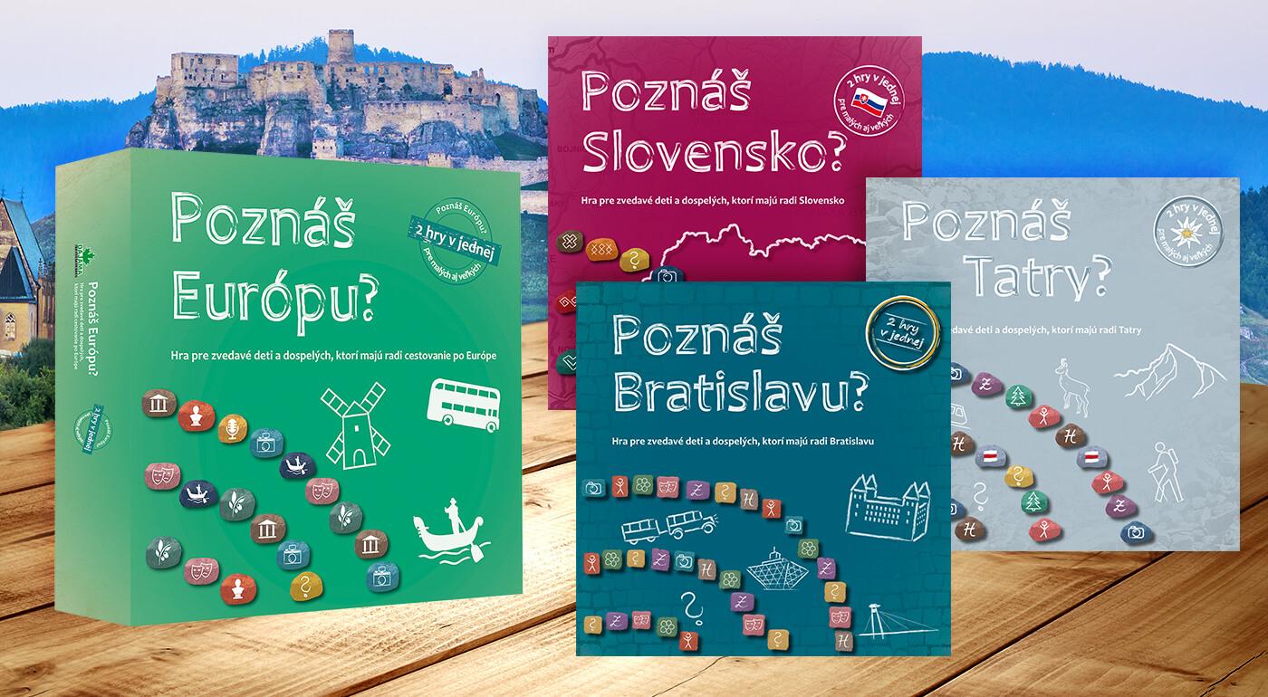Fotka zľavy: Ako dobré poznáte naše malebné Slovensko, jeho hlavné mesto či najkrajšie pohorie? A čo tak európsky kontinent? Presvedčte sa o svojich (ne)znalostiach so spoločenskými hrami od vydavateľstva Dajama!