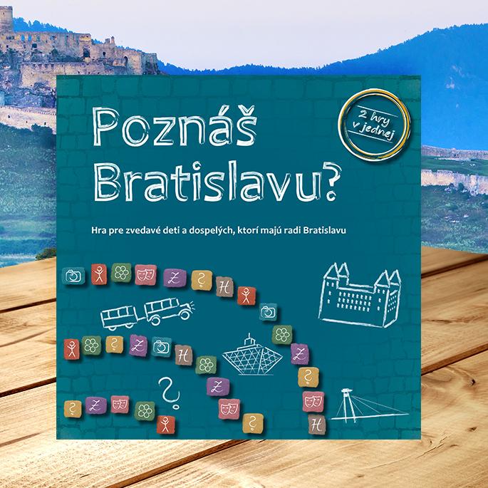 Spoločenská hra Poznáš Bratislavu? pre deti i dospelých