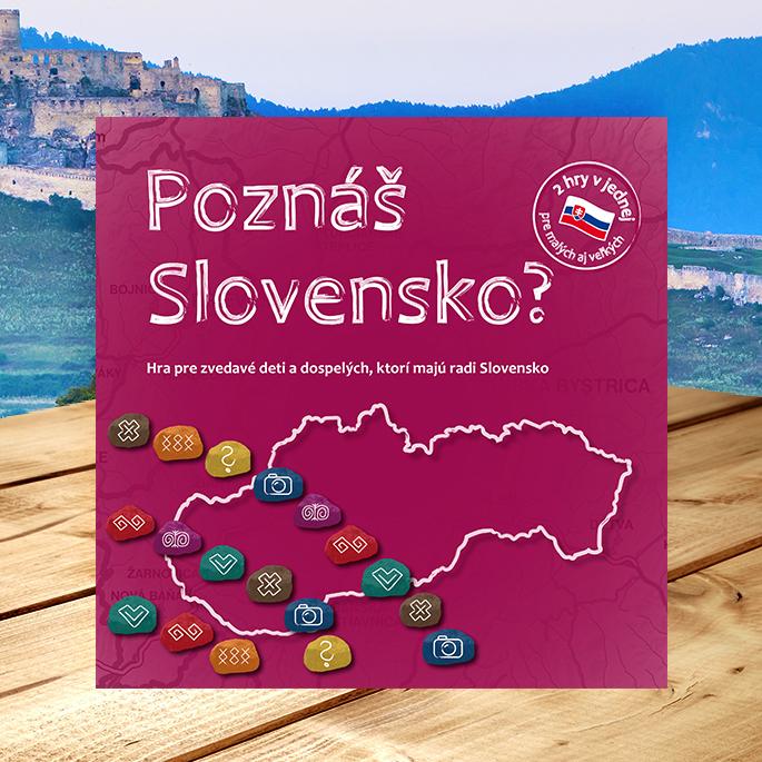 Spoločenská hra Poznáš Slovensko? pre deti i dospelých