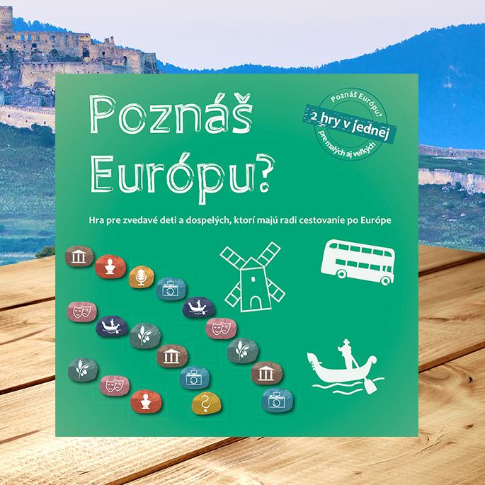 Spoločenská hra Poznáš Európu? pre deti i dospelých