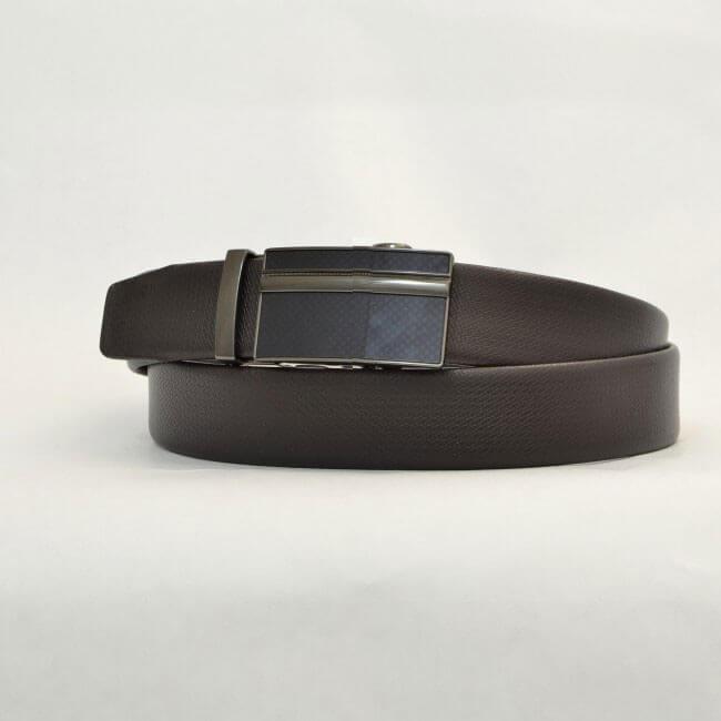 Pánsky kožený opasok - hnedý vzor 11, veľkosť 46 (dĺžka 115 cm)