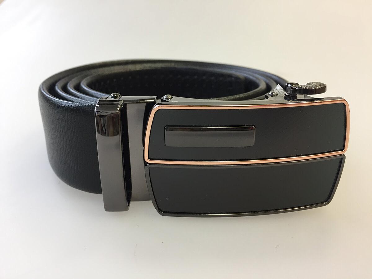 Pánsky kožený opasok - čierny vzor 13, veľkosť 42 (dĺžka 105 cm)