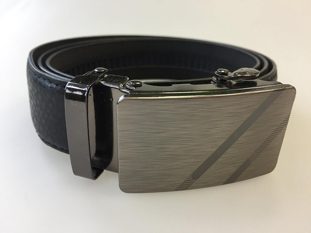 Pánsky kožený opasok - čierny vzor 14, veľkosť 50 (dĺžka 125 cm)