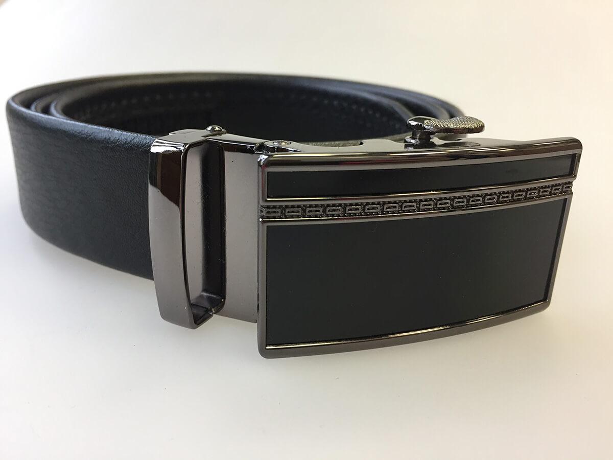 Pánsky kožený opasok - čierny vzor 16, veľkosť 48 (dĺžka 120 cm)