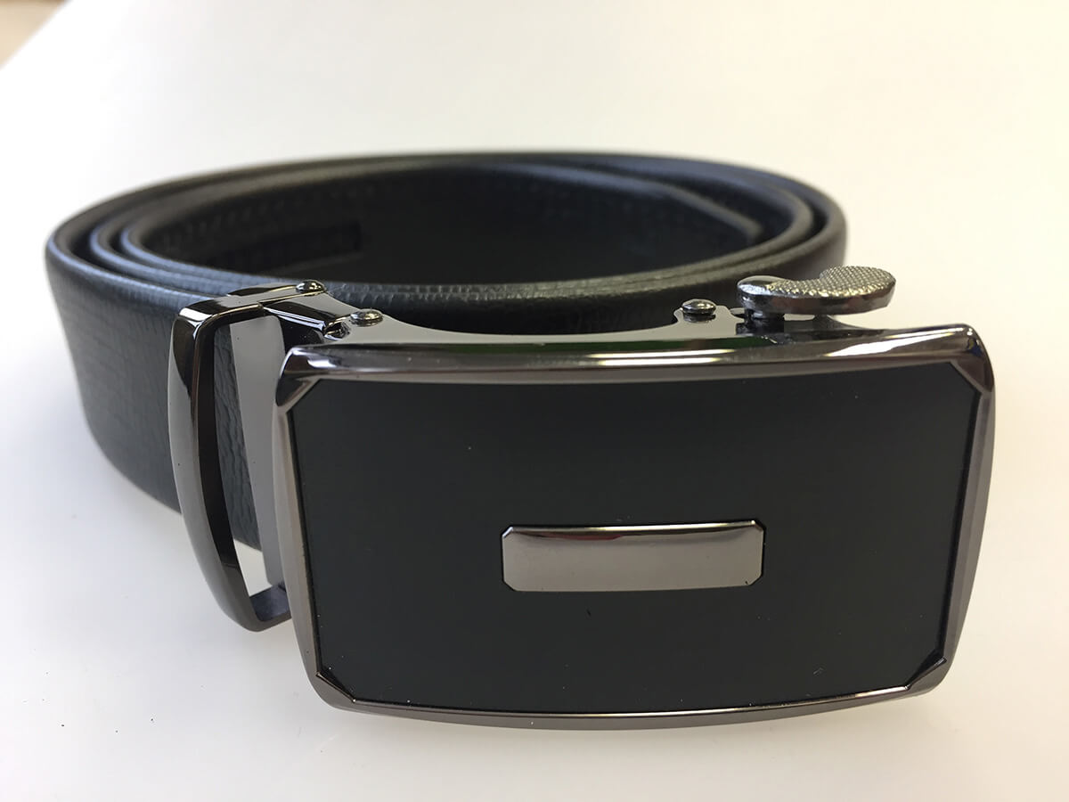 Pánsky kožený opasok - čierny vzor 17, veľkosť 46 (dĺžka 115 cm)