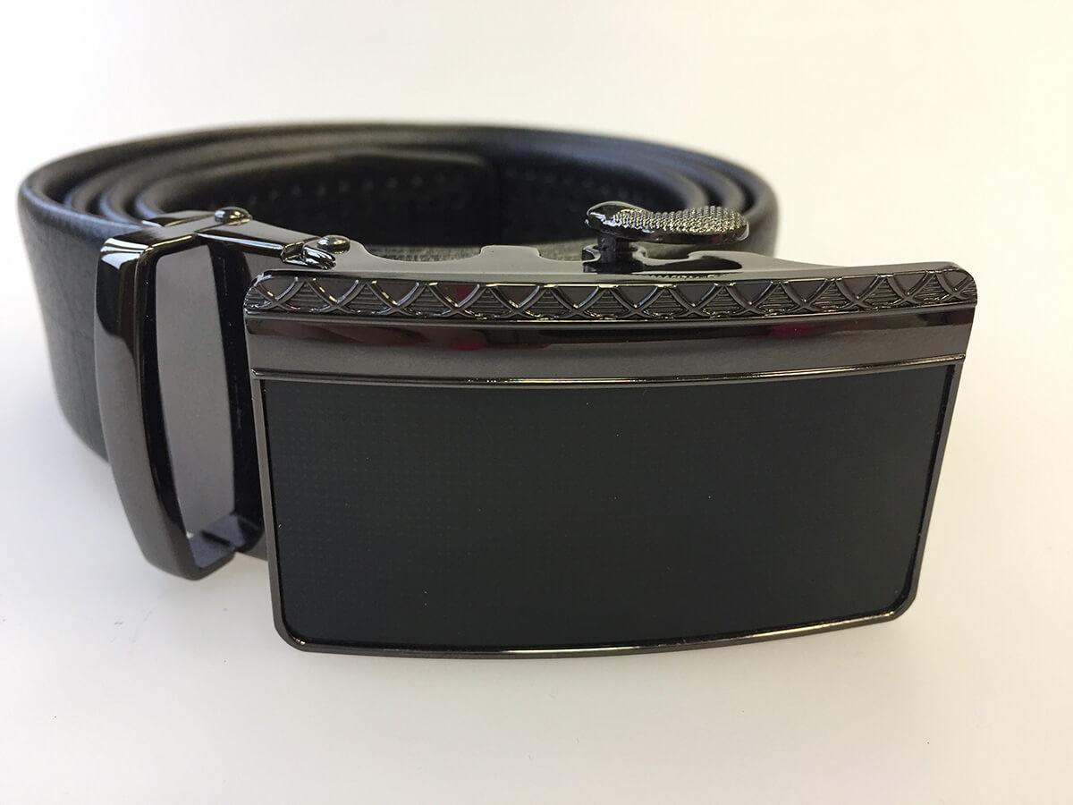 Pánsky kožený opasok - čierny vzor 18, veľkosť 48 (dĺžka 120 cm)