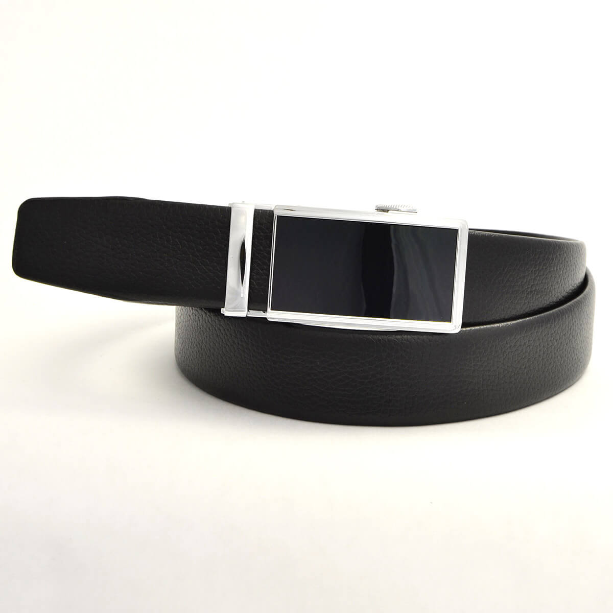 Pánsky kožený opasok - čierny vzor 8, veľkosť 42 (120 cm - 46)