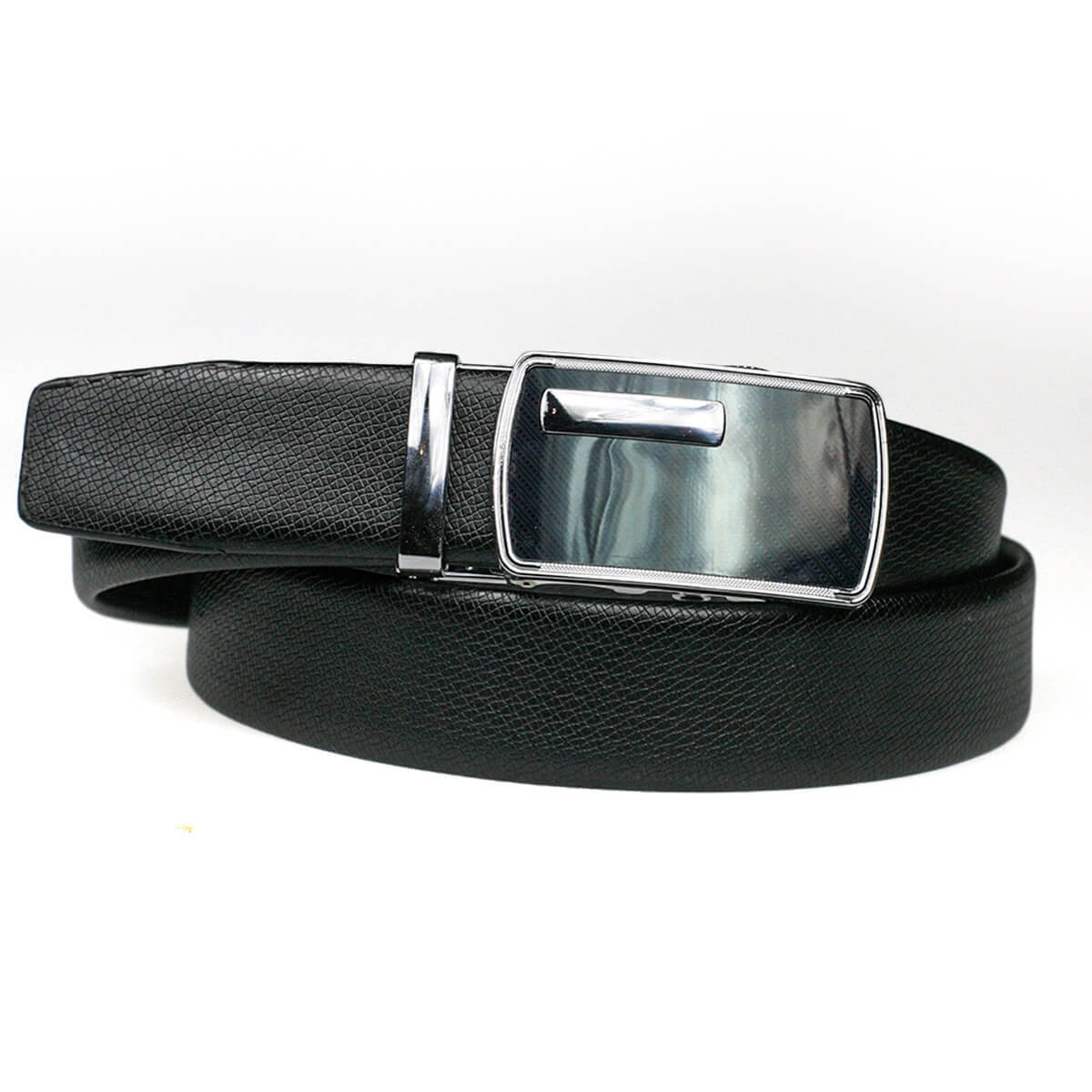 Pánsky kožený opasok - čierny vzor 9, veľkosť 48 (dĺžka 120 cm)