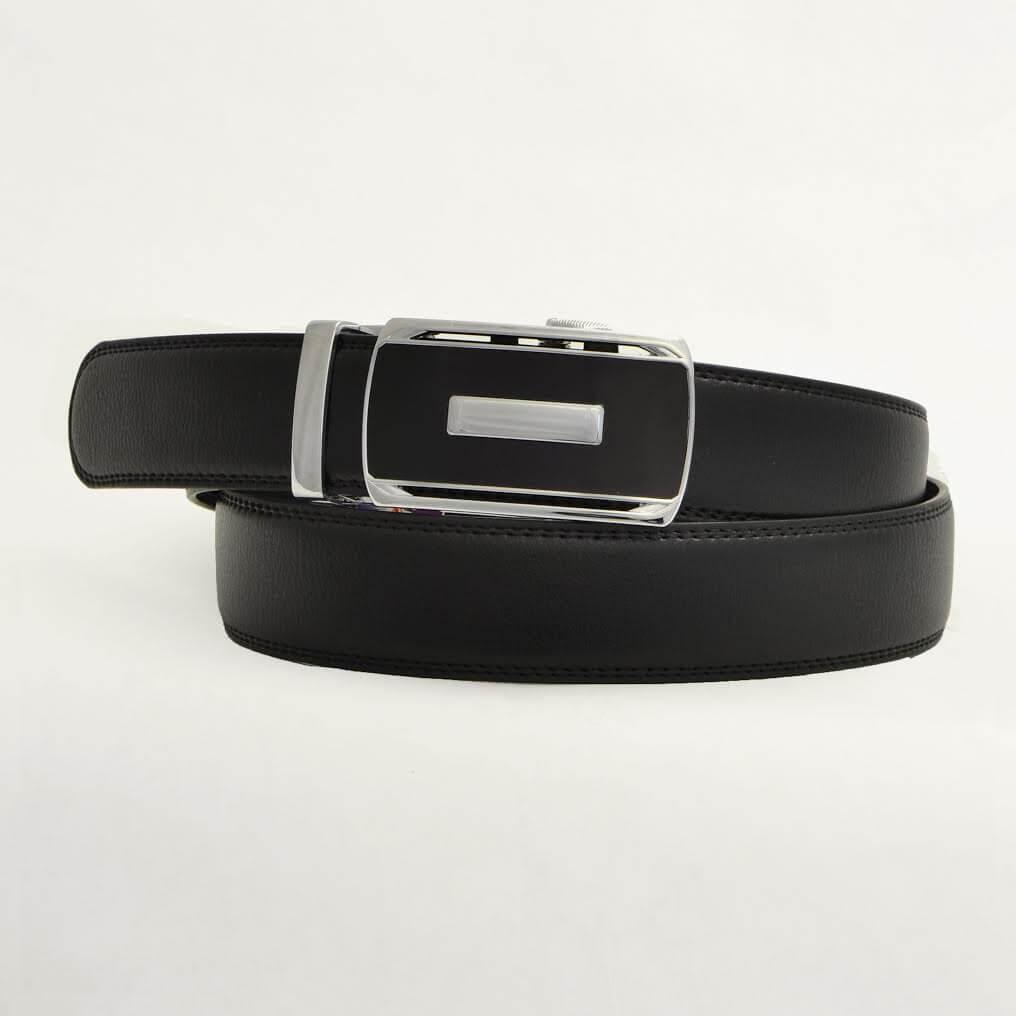 Pánsky kožený opasok - čierny vzor 10, veľkosť 44 (dĺžka 110 cm)
