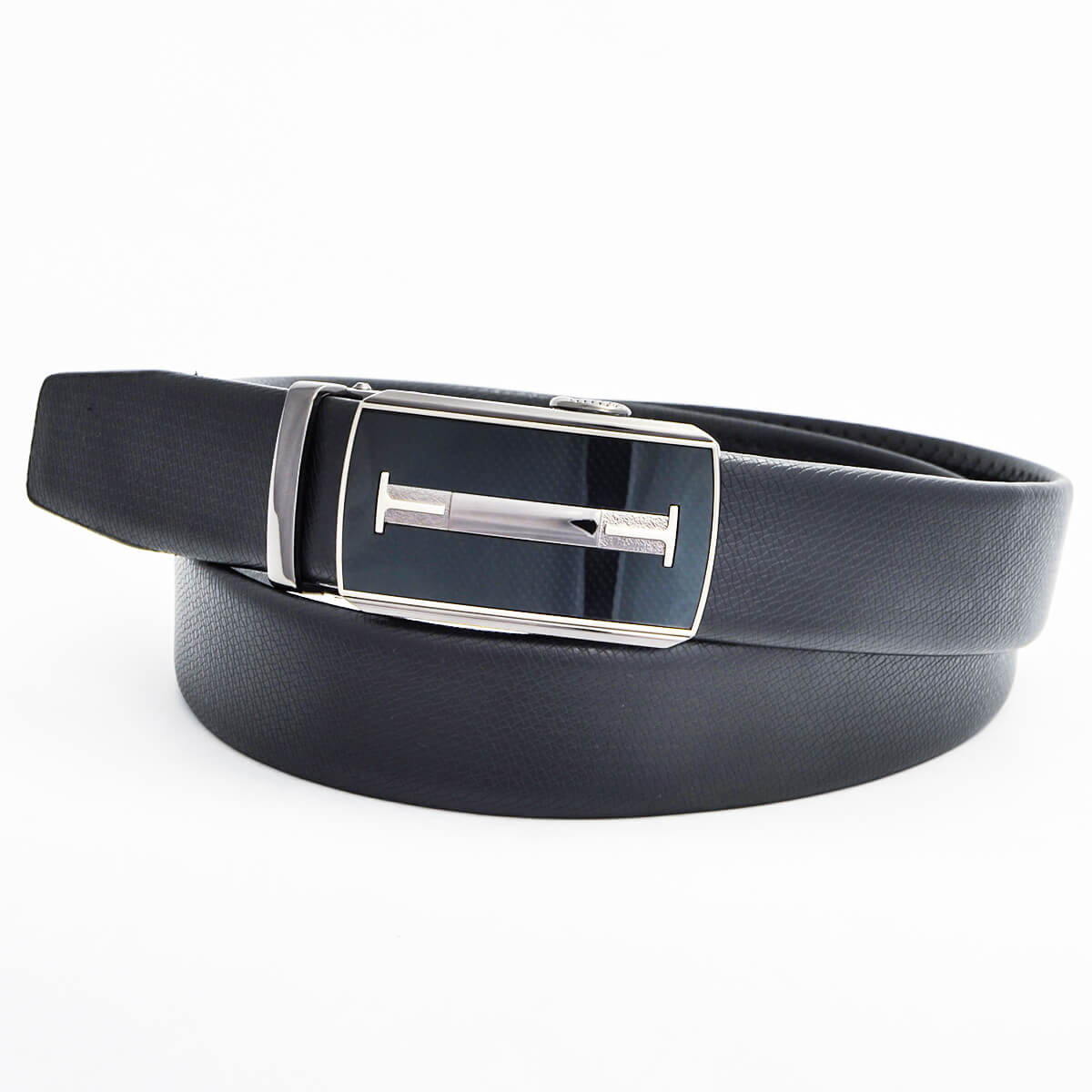 Pánsky kožený opasok - čierny vzor 2, veľkosť 44 (dĺžka 110 cm)