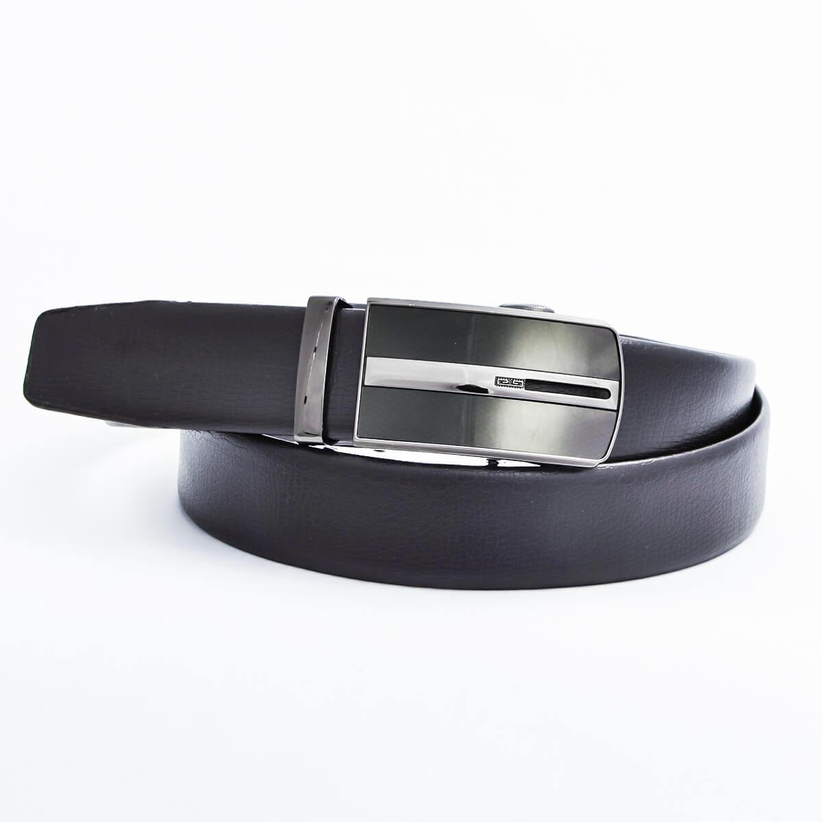 Pánsky kožený opasok - čierny vzor 3, veľkosť 48 (dĺžka 120 cm)
